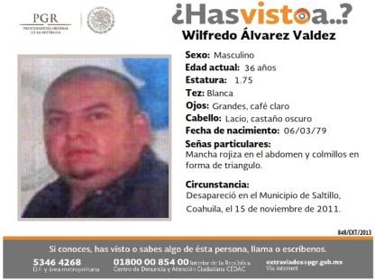 848-EXT-2013 Wilfrido Alvarez Valdez